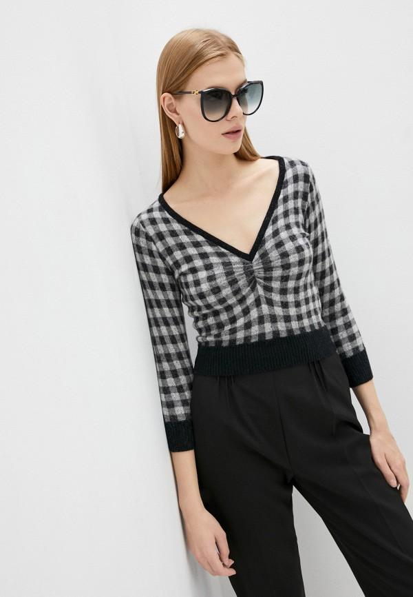 женский пуловер n21, серый