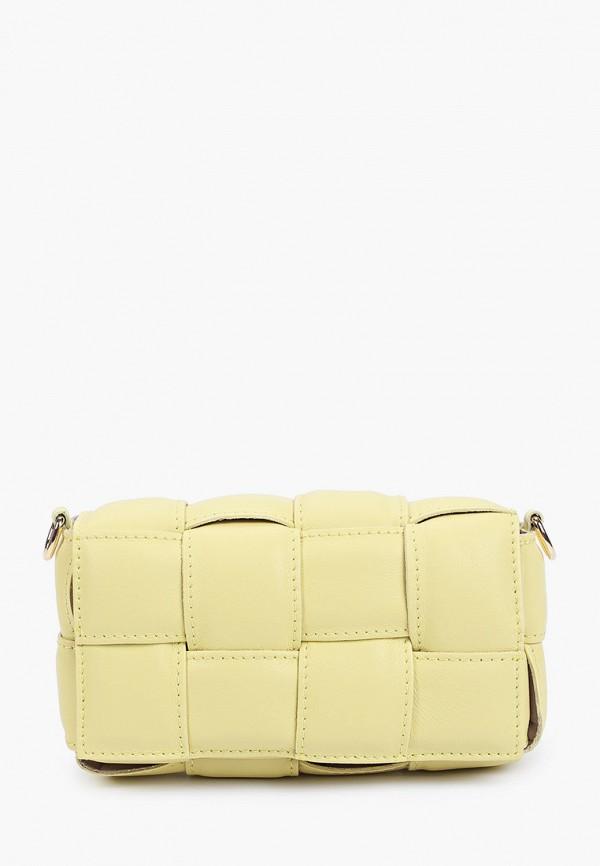женская сумка через плечо giulia monti, желтая