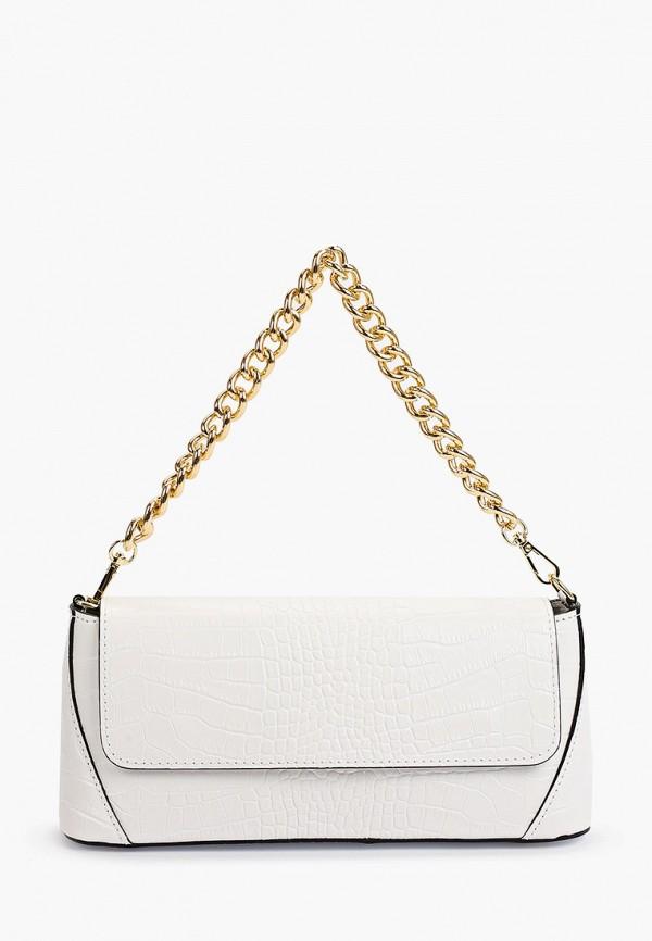 женская сумка с ручками giulia monti, белая