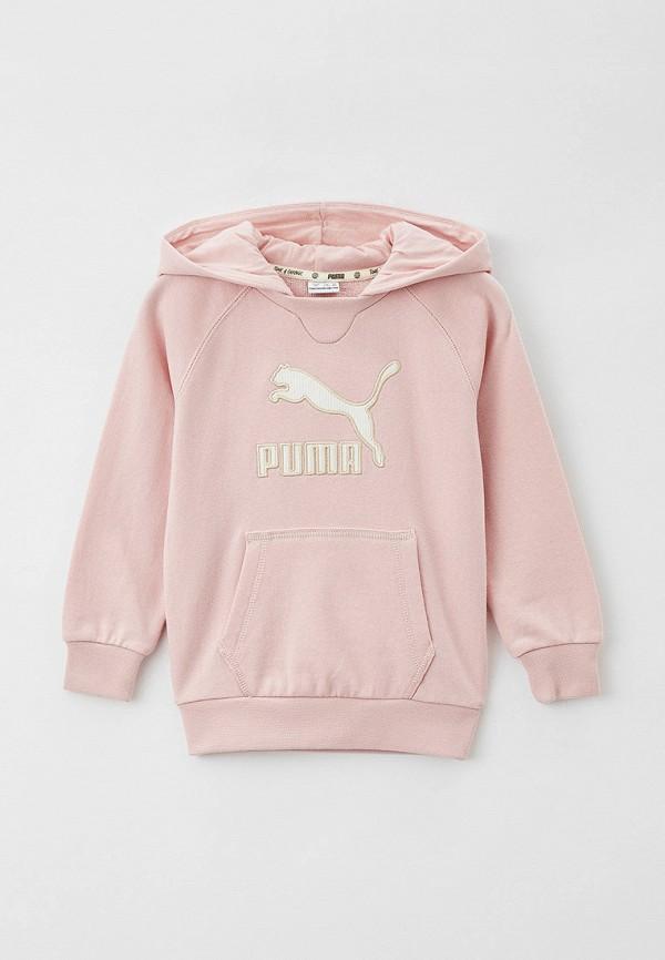 худи puma для девочки, розовые