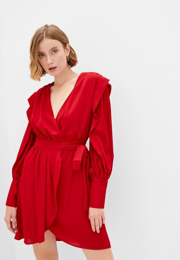 женское платье с запахом silvian heach, красное