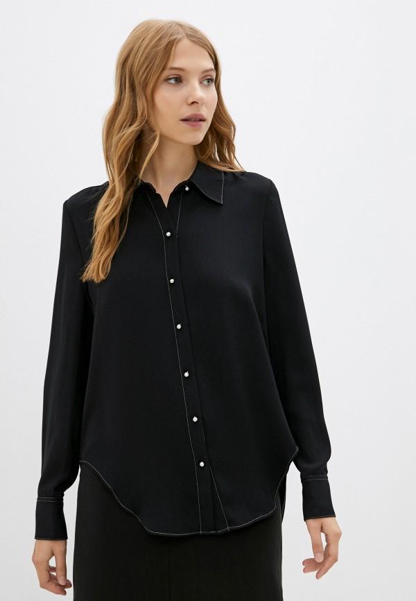 женская блузка с длинным рукавом silvian heach, черная