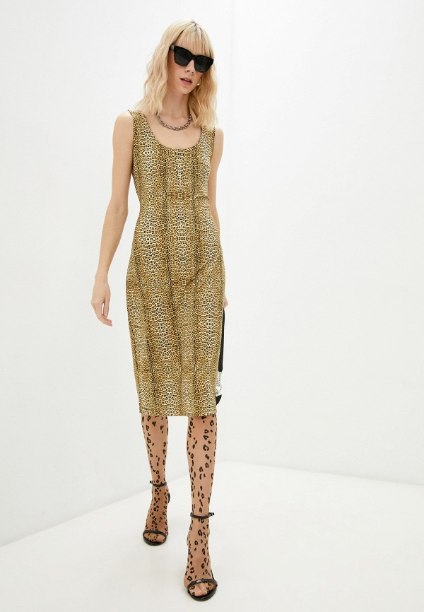 женское платье just cavalli, коричневое