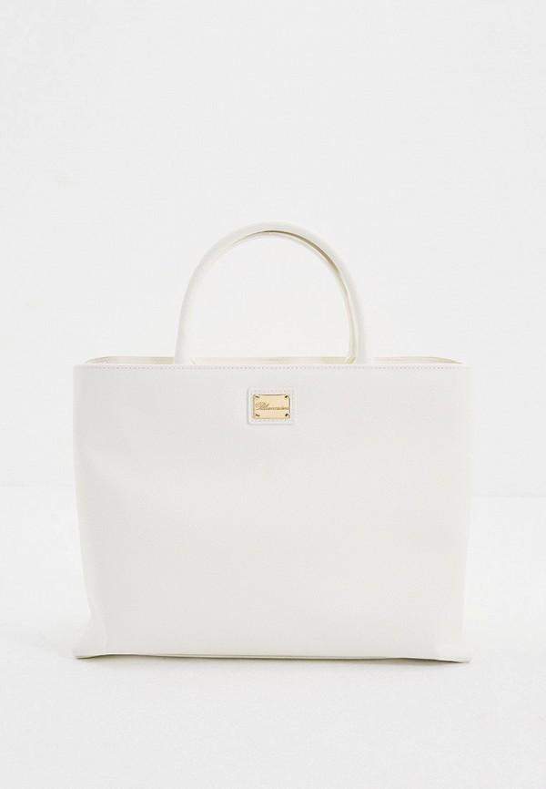 женская сумка blumarine, белая
