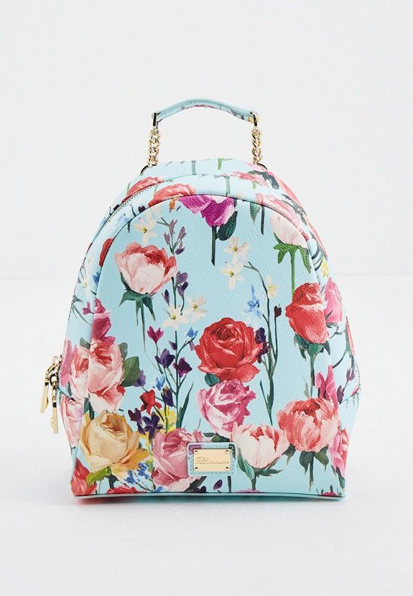 женский рюкзак blumarine, бирюзовый