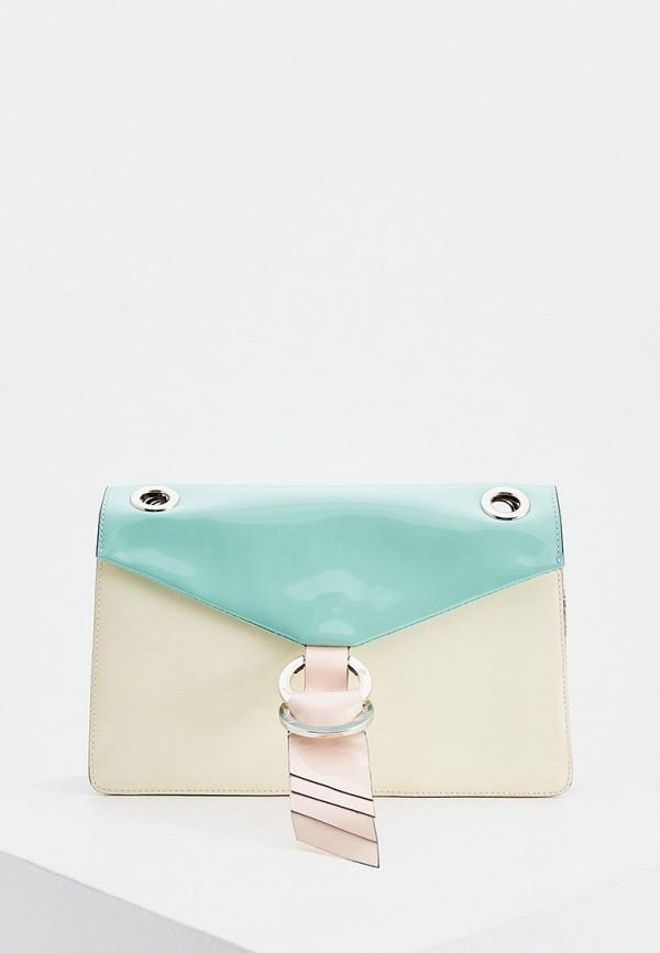 женская сумка blumarine, бирюзовая
