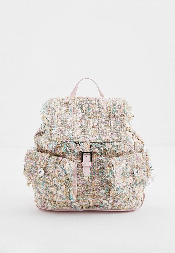 женский рюкзак blumarine, бежевый