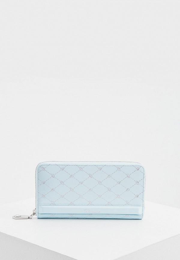 женский кошелёк blumarine, бирюзовый