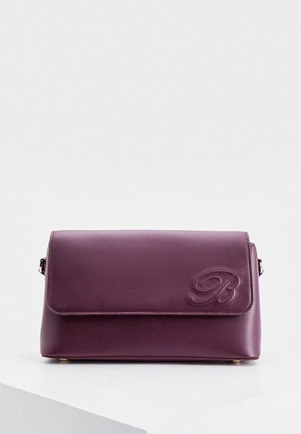 женская сумка blumarine, фиолетовая