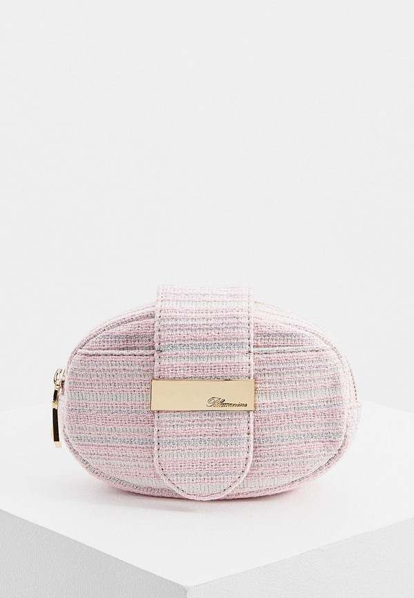 женская сумка blumarine, розовая