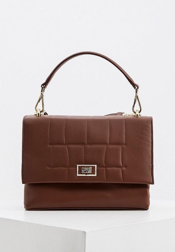 Сумка Cavalli Class коричневого цвета