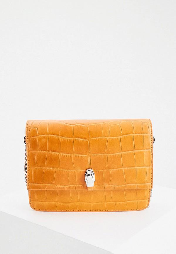 женская сумка через плечо cavalli class, оранжевая