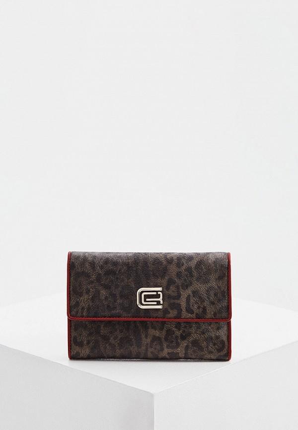 женский кошелёк cavalli class, коричневый