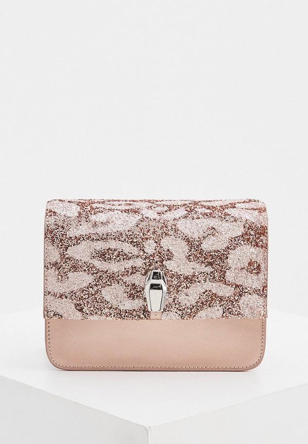 женская сумка cavalli class, розовая