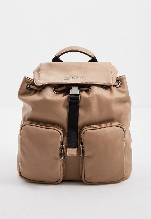 женский рюкзак bikkembergs, бежевый