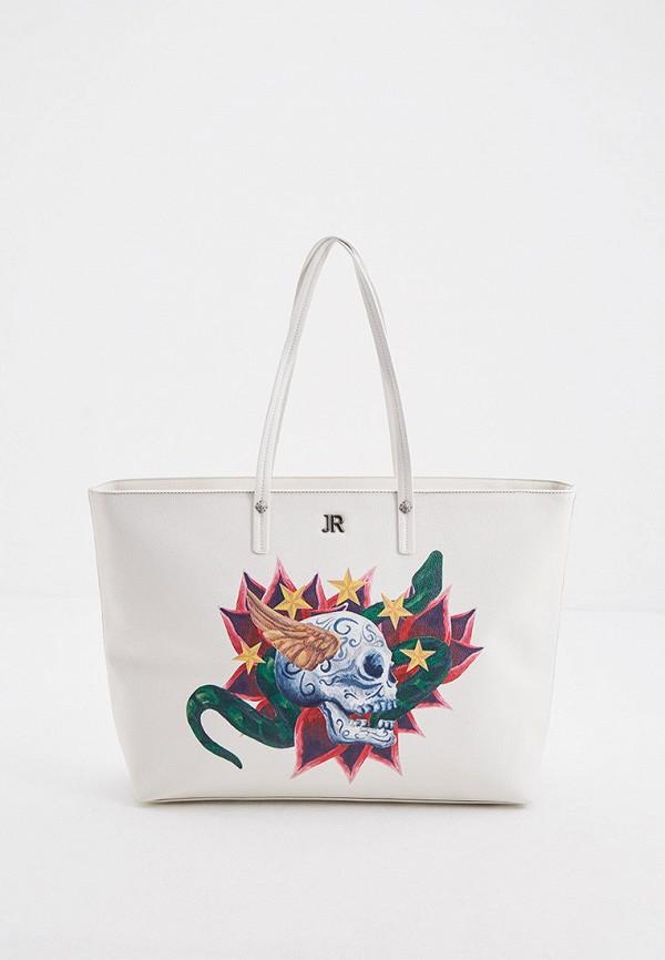 женская сумка-шоперы john richmond, бежевая