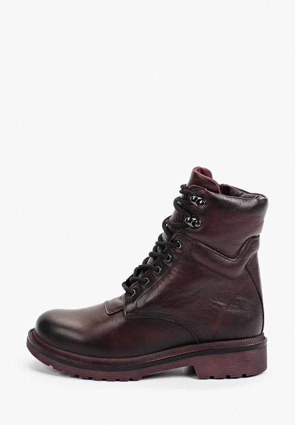 женские высокие ботинки vittorio bravo, бордовые