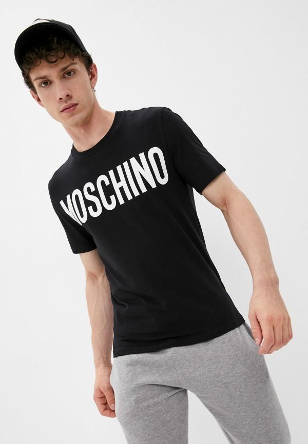 мужская футболка с коротким рукавом moschino couture, черная