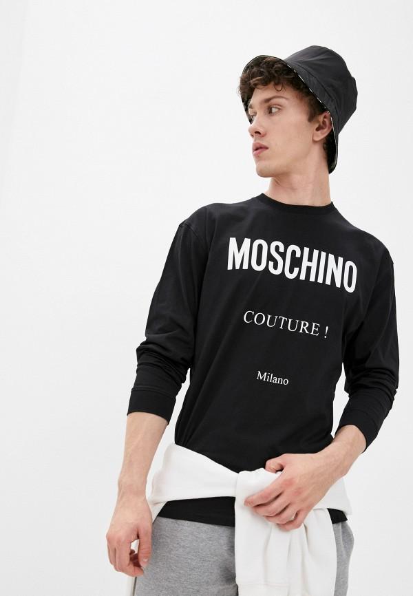 мужской лонгслив moschino couture, черный