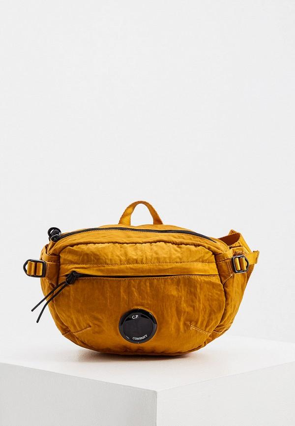 мужская сумка c.p. company, оранжевая