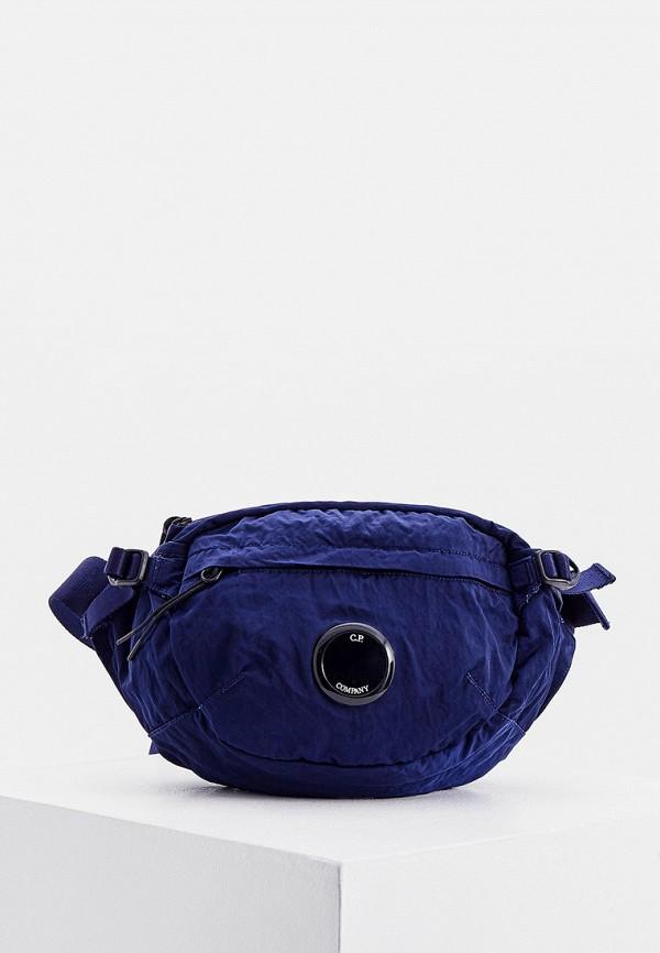 мужская сумка c.p. company, синяя
