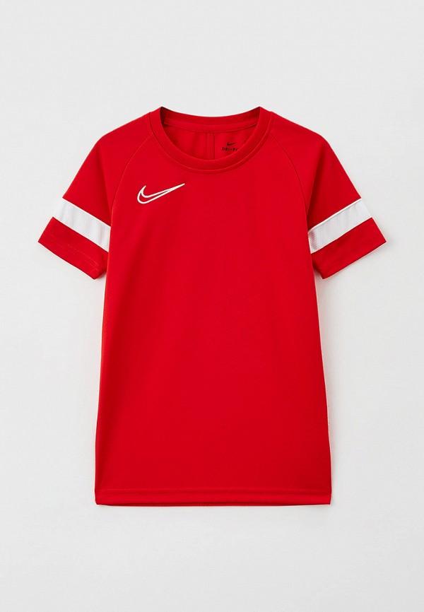 футболка с коротким рукавом nike малыши, красная