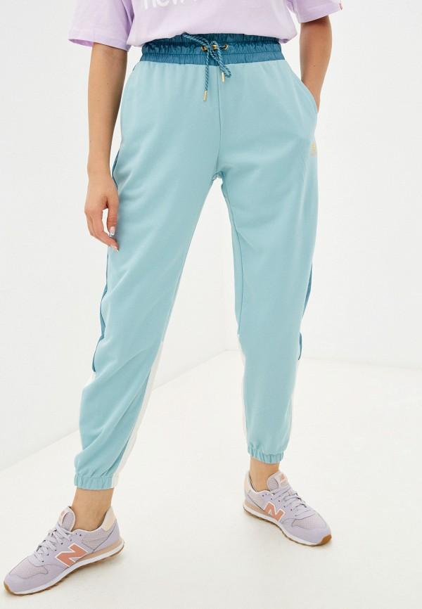 женские спортивные брюки new balance, бирюзовые