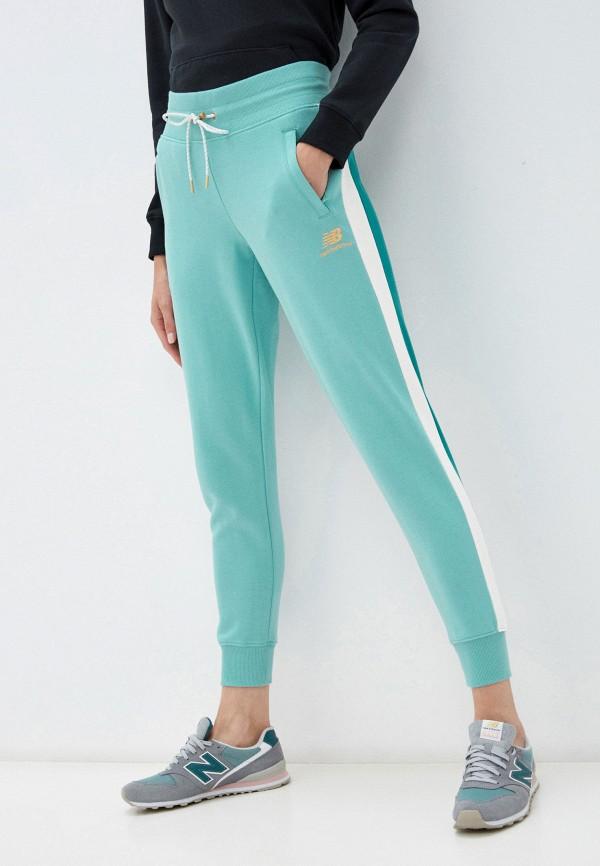 женские спортивные брюки new balance, голубые