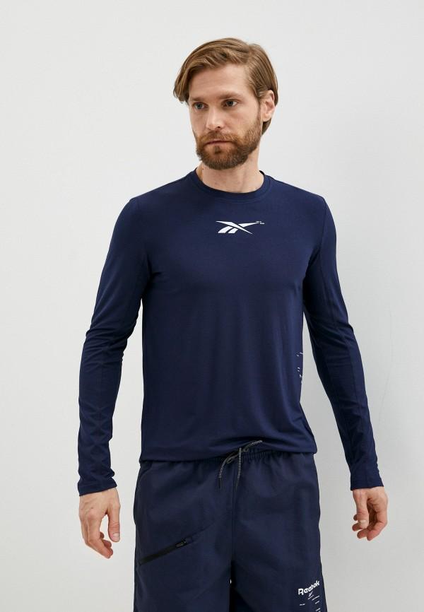 Лонгслив спортивный Reebok синего цвета