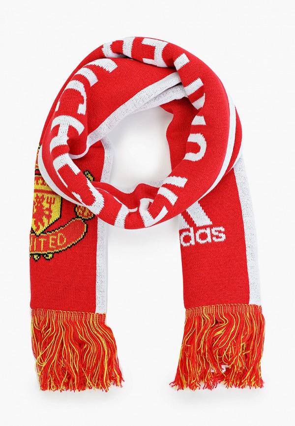 женский шарф adidas, красный
