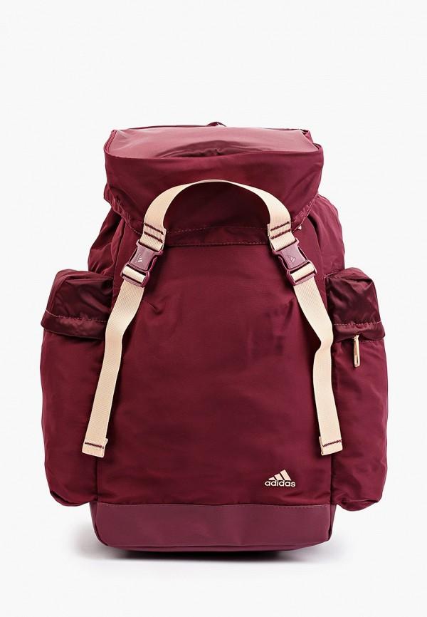 женский рюкзак adidas, бордовый