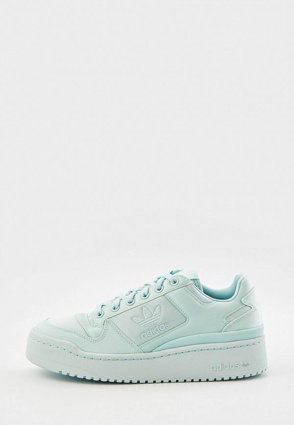 женские низкие кеды adidas, бирюзовые