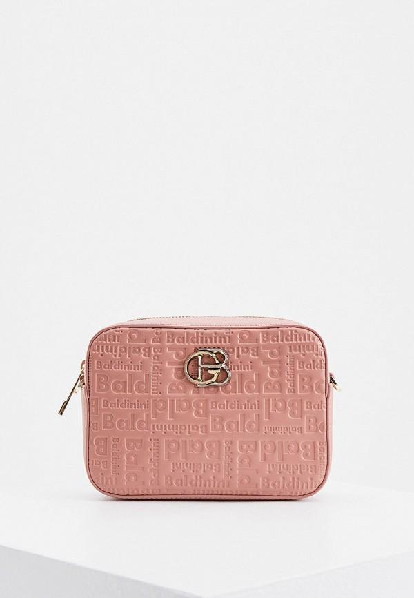 женская поясные сумка baldinini, розовая