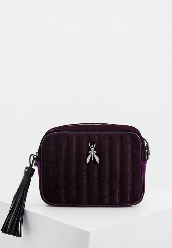 женская сумка через плечо patrizia pepe, фиолетовая