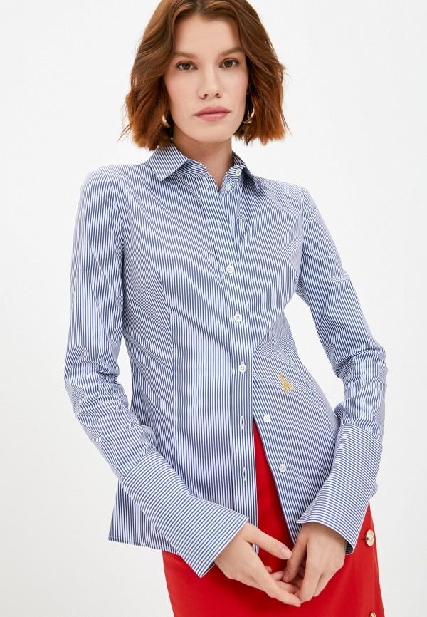 женская рубашка с длинным рукавом patrizia pepe, голубая