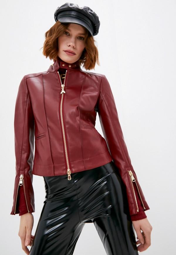 женская куртка patrizia pepe, бордовая