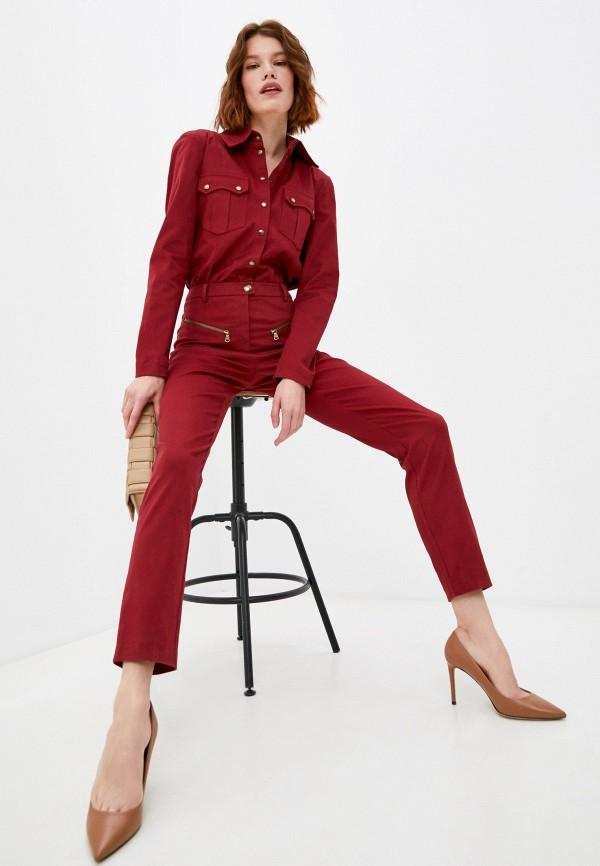 женский комбинезон с брюками patrizia pepe, бордовый