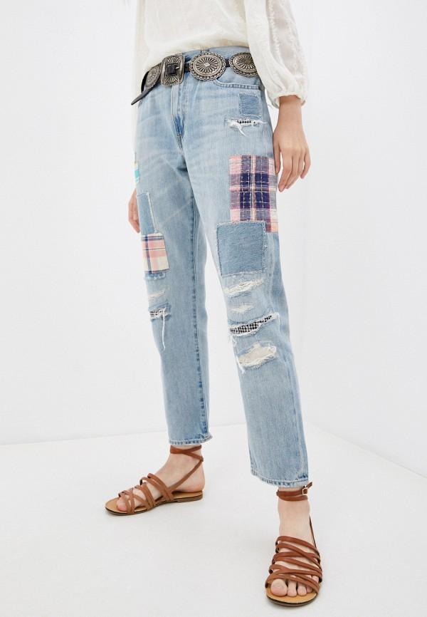 женские джинсы бойфренд polo ralph lauren, голубые