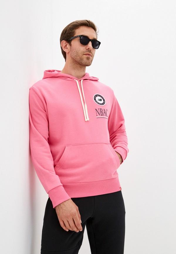 мужские худи new balance, розовые