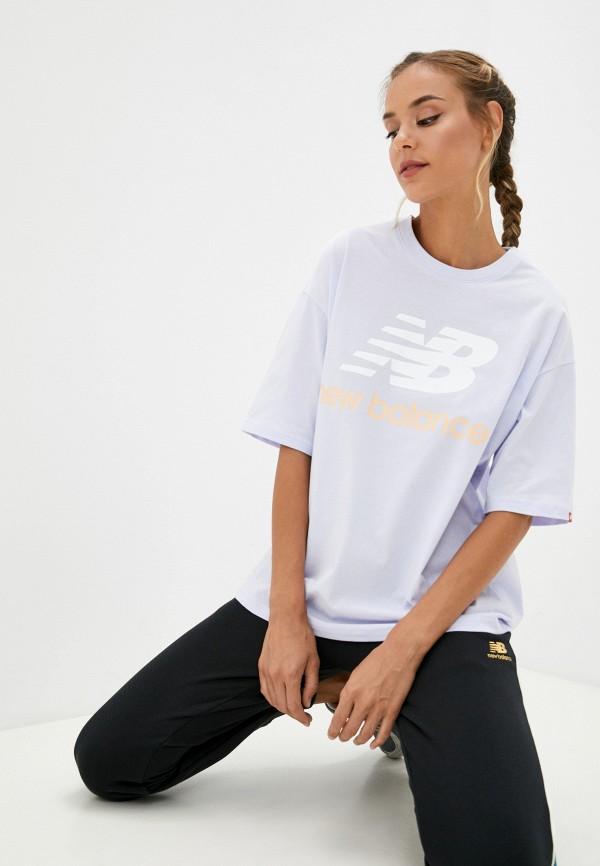 женская спортивные футболка new balance, фиолетовая