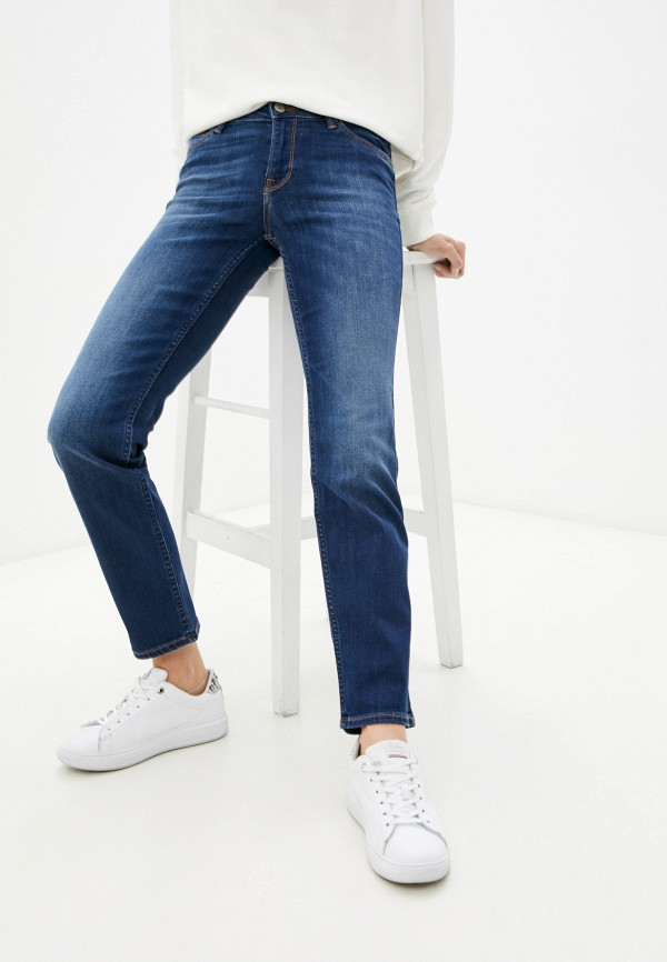 женские прямые джинсы lee, синие
