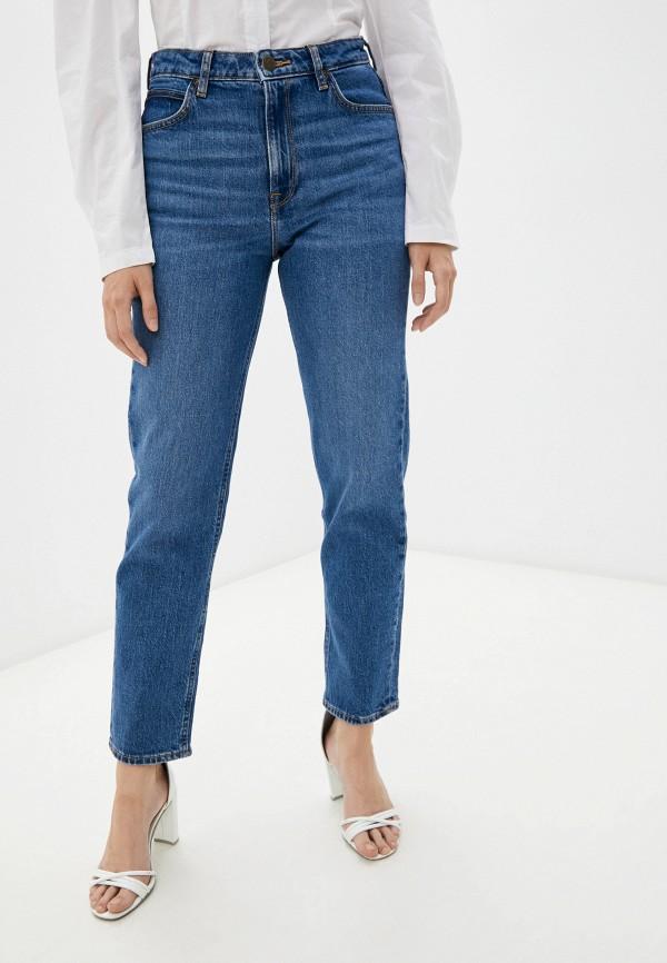 женские джинсы-мом lee, синие