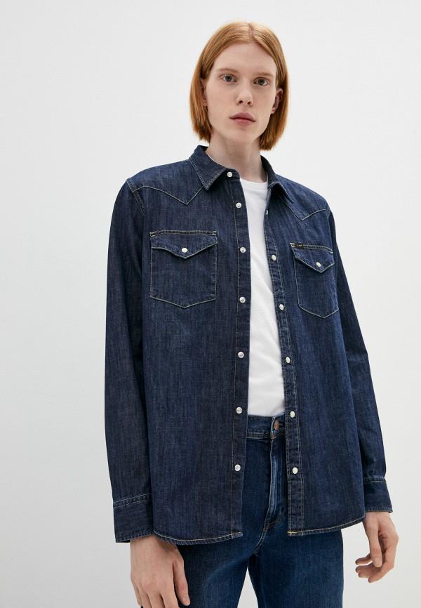 мужская джинсовые рубашка lee, синяя