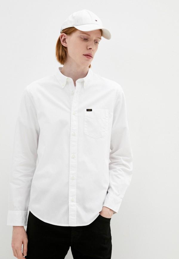 мужская рубашка с длинным рукавом lee, белая