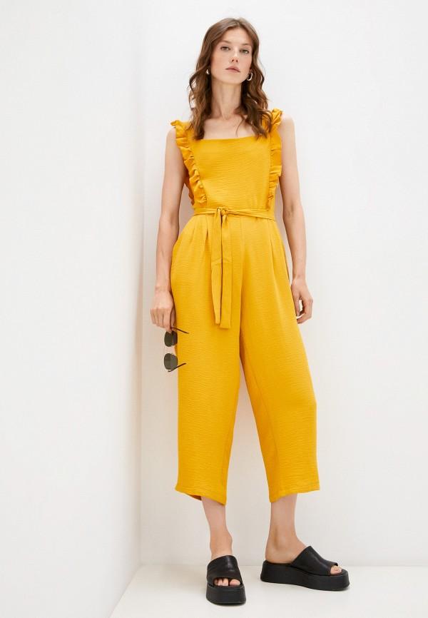 женский комбинезон с брюками pink orange, желтый