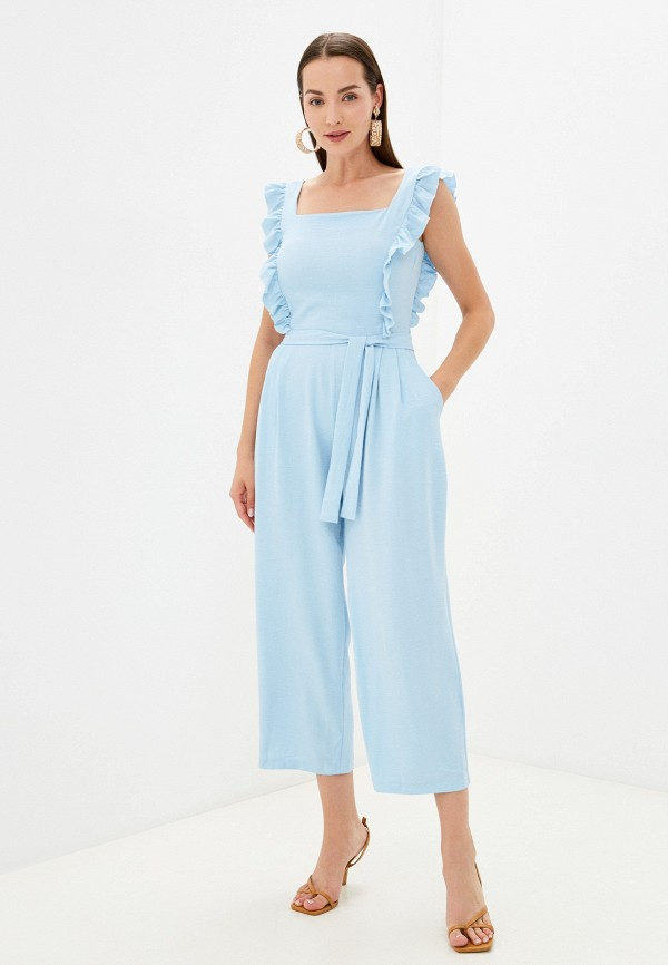 женский комбинезон с брюками pink orange, голубой