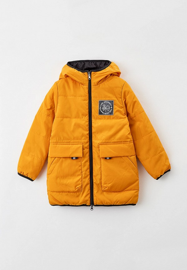 утепленные куртка boom by orby для мальчика, желтая