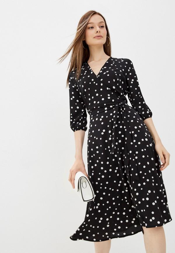 женское платье с запахом miss gabby, черное