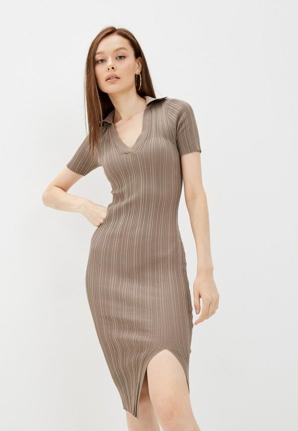 женское повседневные платье miss gabby, хаки