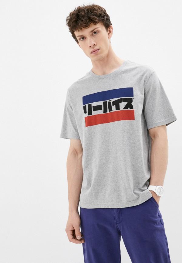 мужская футболка с коротким рукавом levi's®, серая